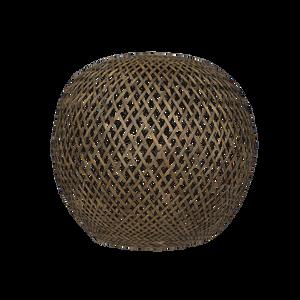 Bilde av Oi Soi Oi Lampeskjerm svartbeiset bambuskule XL