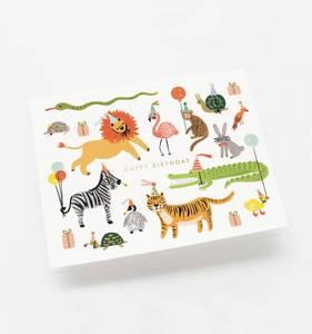 Bilde av Party Animals kort Rifle Paper Co