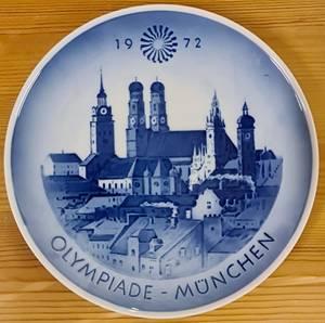 Bilde av OL 1972 - platte fra Royal Copenhagen