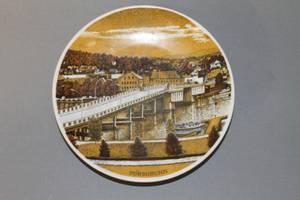 Bilde av Porsgrund Porselen platte: Porsgrunnsbrua