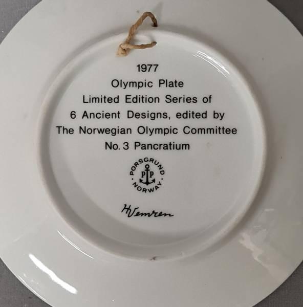 OL-platte fra Porsgrund 1977