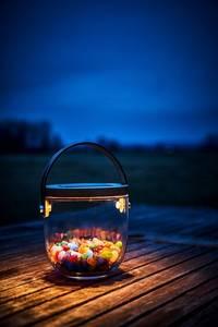 Bilde av Deco Glasslykt