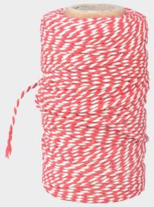 Bilde av Bomullsnøste koketråd rød/hvit 100m