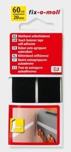 Bilde av Borrelås Selvklebende Sort (60cmx20mm)