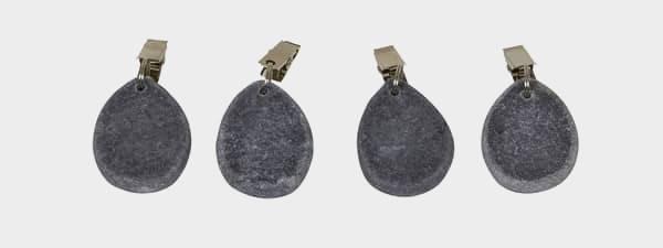 Duklodd i sten grå 4 stk 65gr.