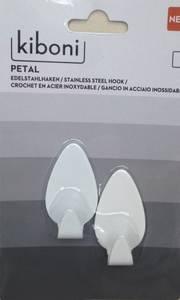 Bilde av Limkrok Petal Liten Hvit (2 stk)
