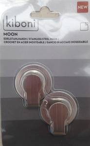 Bilde av Limkrok Moon Liten Stål (2 stk)