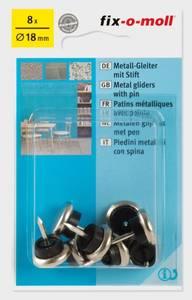 Bilde av Metall m stift 18mm (8 stk)