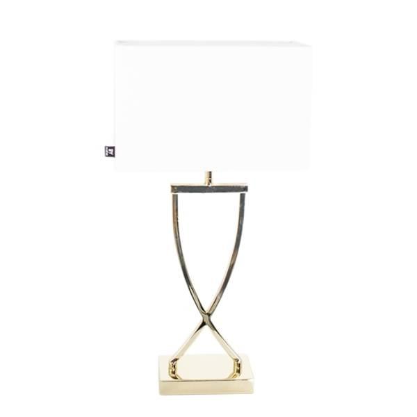 Bilde av Omega bordlampa h52cm mässing Hvit