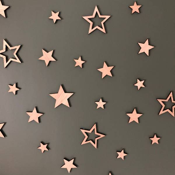 Bilde av Decoration stars 6x6 oak