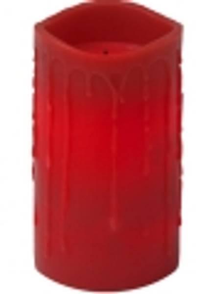 Bilde av  Drip vokslys m/dråper 15 cm rød