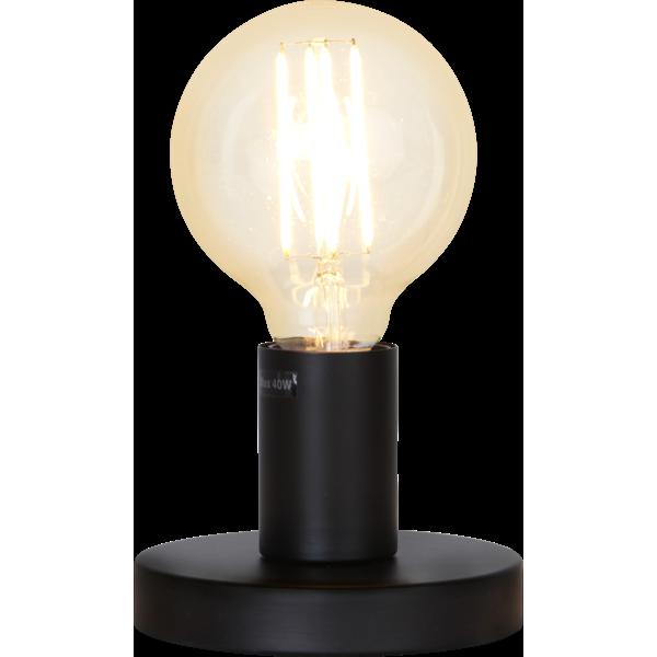 Bilde av Glans lampefot i metall svart 8,5 cm