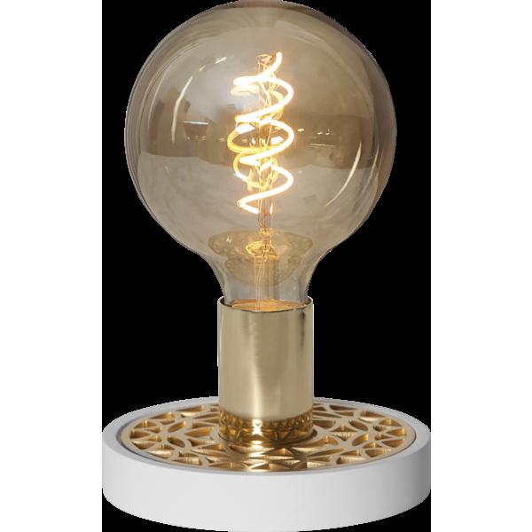 Bilde av Magic lampefot hvit/messing E27 - Kun utstilling
