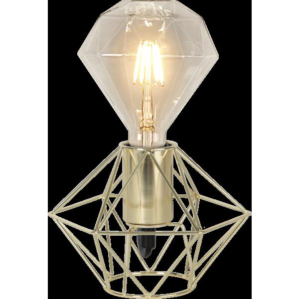 Bilde av   EDGE lampeholder i metall 17 cm E27 messing