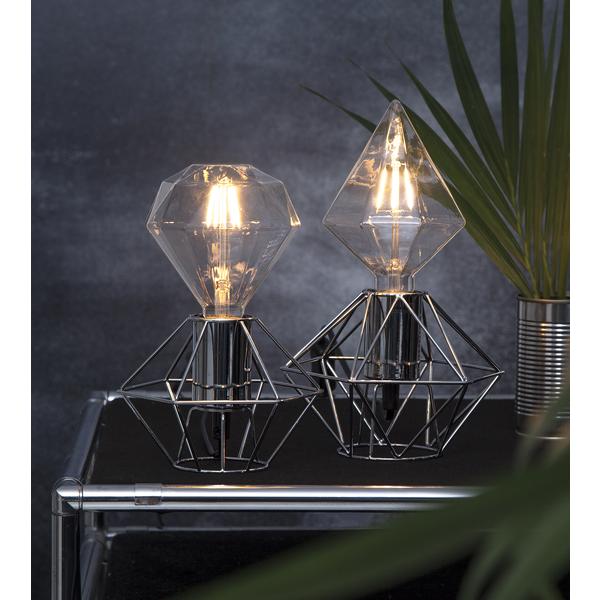 Bilde av EDGE lampeholder i metall 17 cm E27 krom