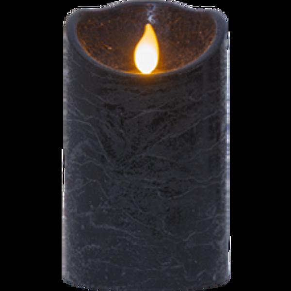 Bilde av   M-TWINKLE kubbelys 12,5 cm batteri/timer svart