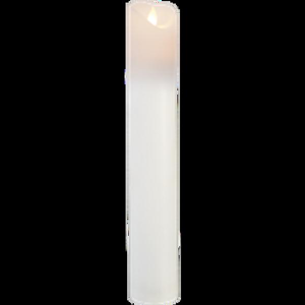 Bilde av M-Twinkle kubbelys hvit 30 cm m/timer