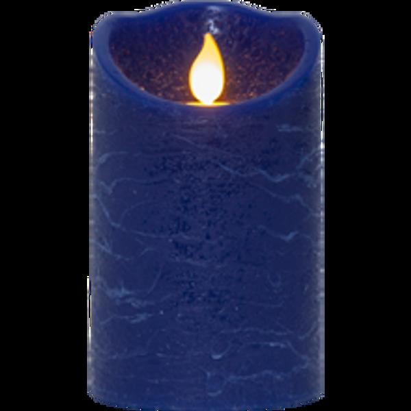 Bilde av  M-TWINKLE kubbelys 12,5 cm batteri/timer blå
