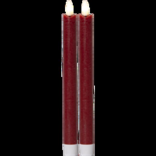 Bilde av   FLAMME kronlys 25 cm3D-flamme batteri/timer rød