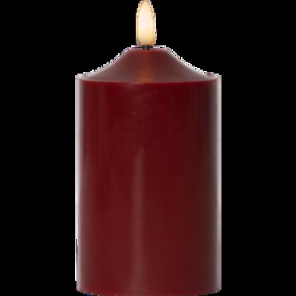 Bilde av FLAMME kubbelys 15 cm rød m/timer