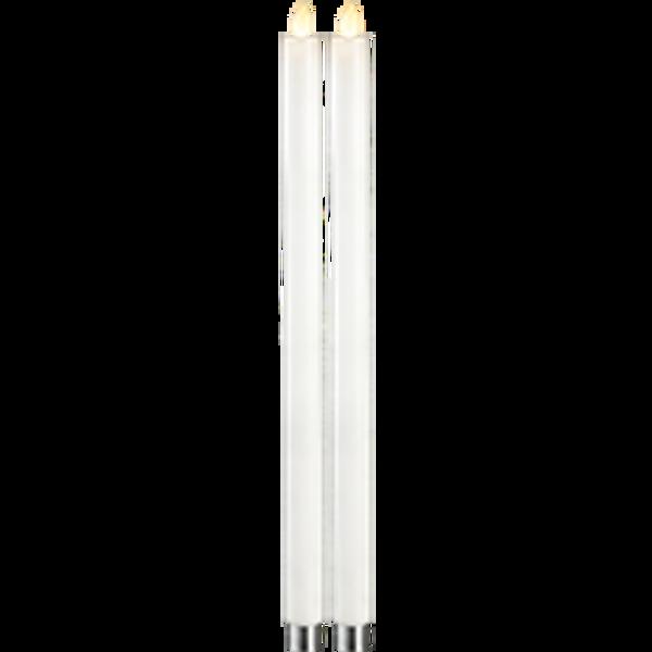 Bilde av M-Twinkle kronlys hvit 40 cm 2-pk batteri/timer