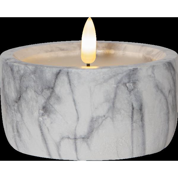 Bilde av FLAMME Marble kubbelys 10x7,5 cm
