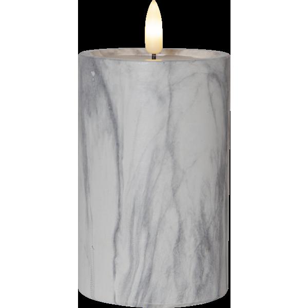 Bilde av FLAMME Marble kubbelys 15 cm