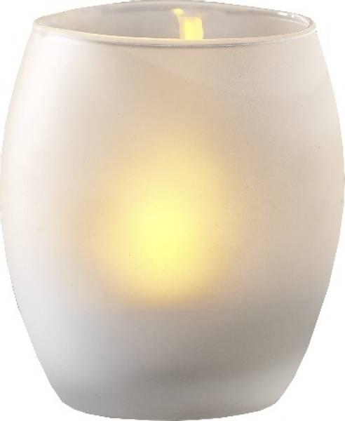 Bilde av  Frost t-lys i glasskopp