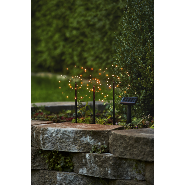 Bilde av Firework solar stibelysning 3 stk
