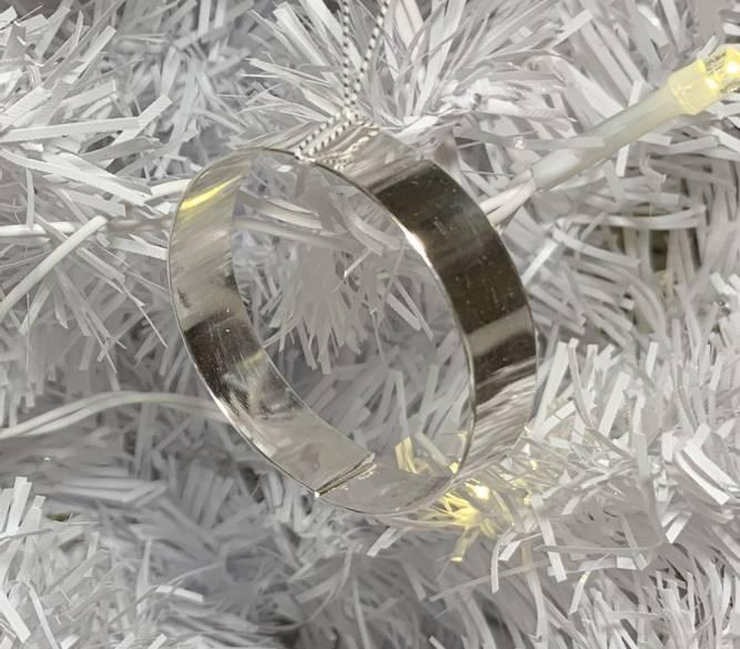 Bilde av Blankpolert sølv julelenke