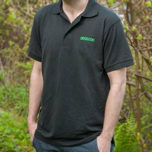 Bilde av Opticron poloskjorte, svart - herre XL
