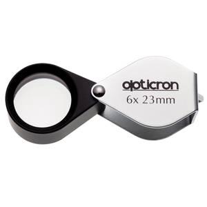 Bilde av Opticron foldelupe i metalldeksel 6x 23 mm