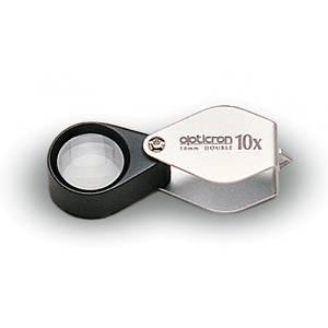 Bilde av Opticron foldelupe i metalldeksel 10x18 mm