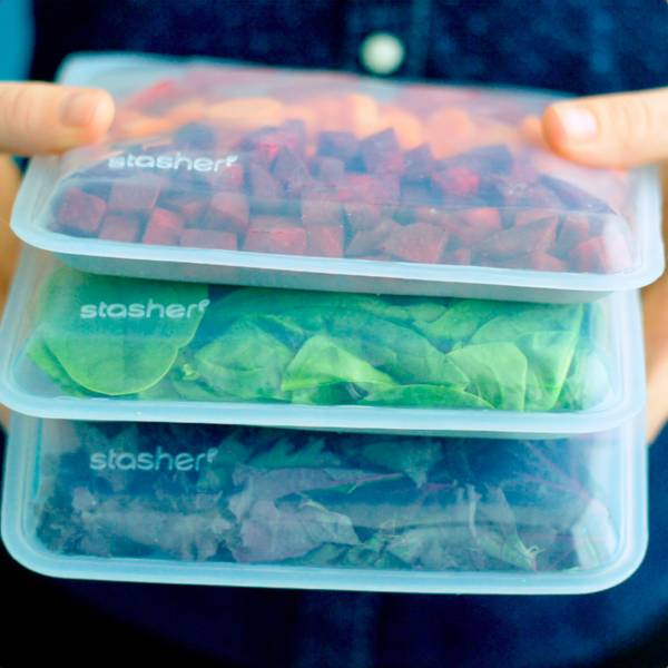 STASHER Bundle Food Storage Aqua 3 pk