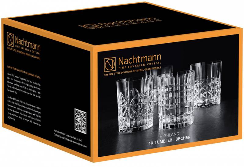 NACHTMANN Highland Tumbler sett, 4 pk