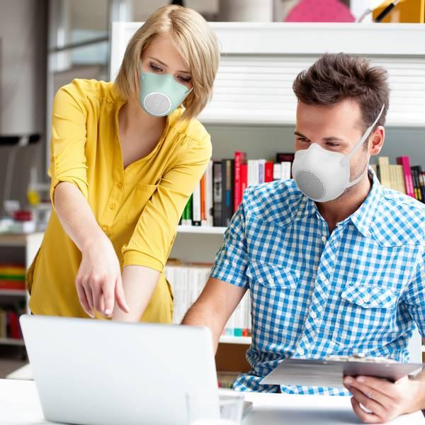 GUZZINI Eco Mask Hvit - Ansiktsmaske i myk plast inkl. 4 filter