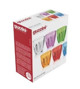 Bilde av GUZZINI AQUA Plastglass, 6 pk forskjellige farger