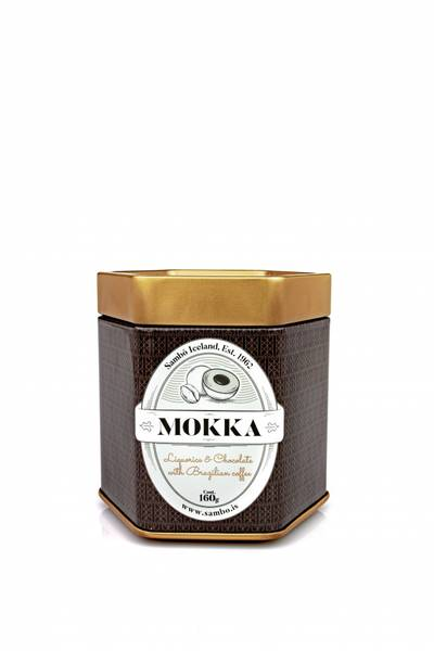SAMBO Lakriskuler Mokka, 160 gram metallboks