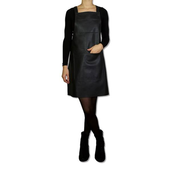 DUTCHDELUXES Suspender Forkle, skinn, black