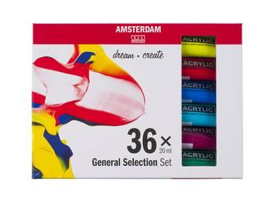 Amsterdam Standard 20ml – Sett 36 ass. farger