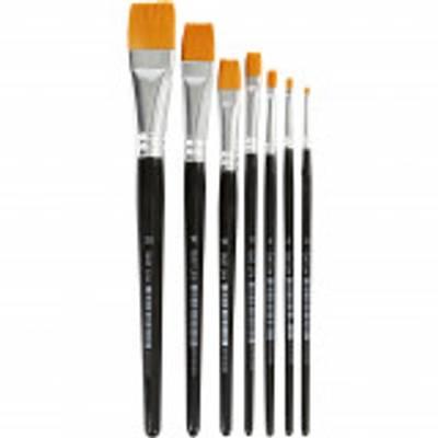 Gold Line Pensel, Flat, 0-20, B: 2-24 mm, 7 Stk.