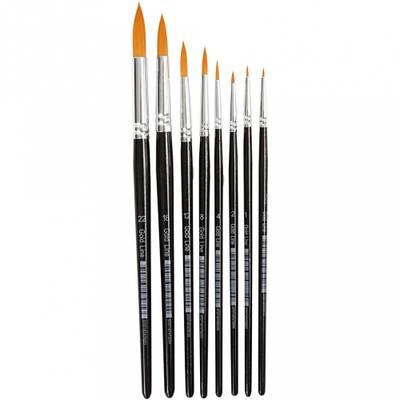 Gold Line Pensel, Rund, 0-22, B: 1,5-8 mm, 8 Stk.