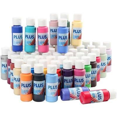 Plus Color Hobbymaling, Ass. Farger, 60 ml, 60 Fl.