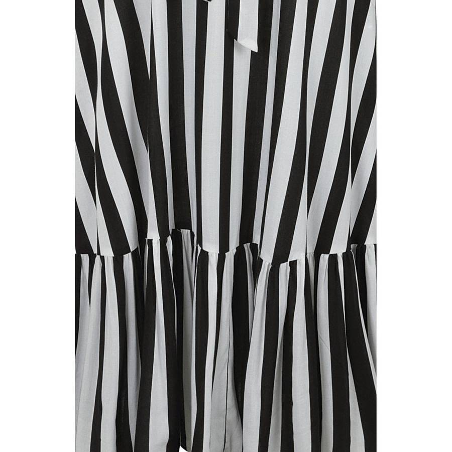 Collectif Utsvingt kjole Katrina, Stripete sort/hvit