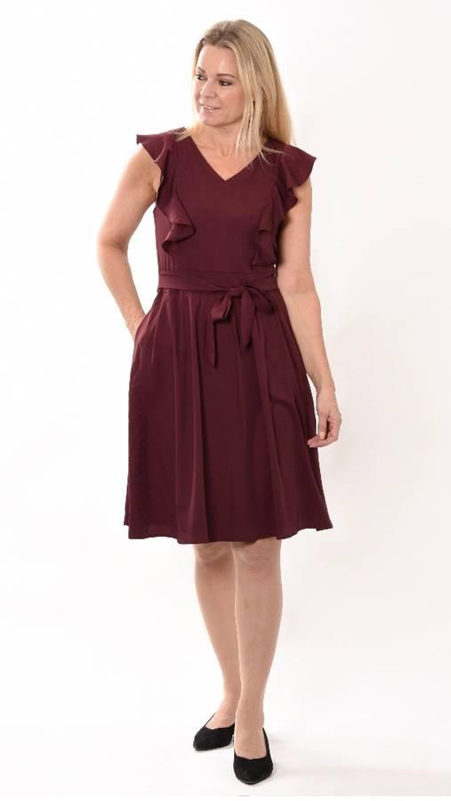 Heartmaker Utsvingt kjole, Anny Burgunder