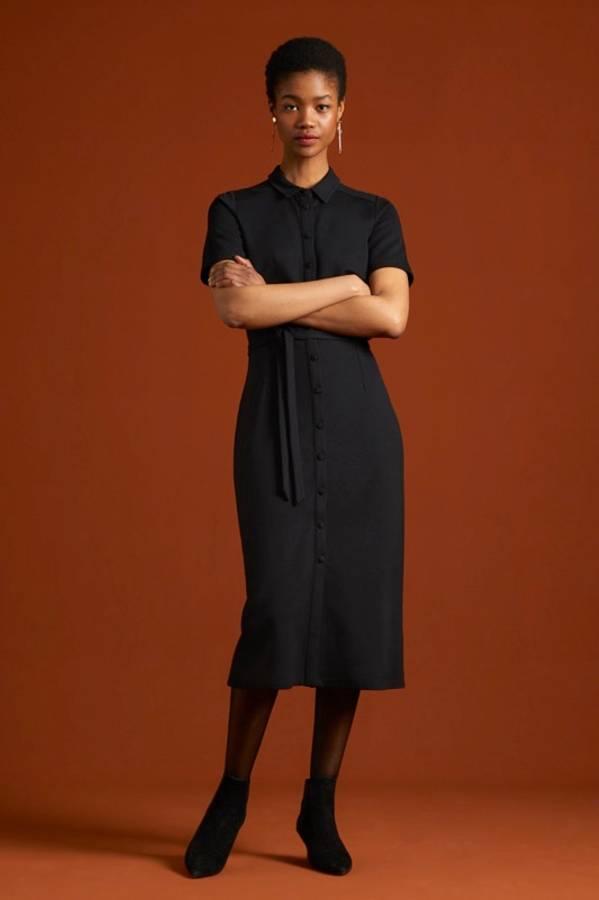King Louie Figurnær kjole Rosie Milano, Sort