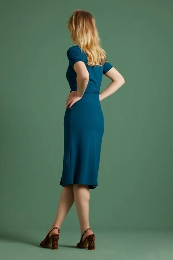 King Louie Figurnær kjole Rosie Milano, Pond Blue