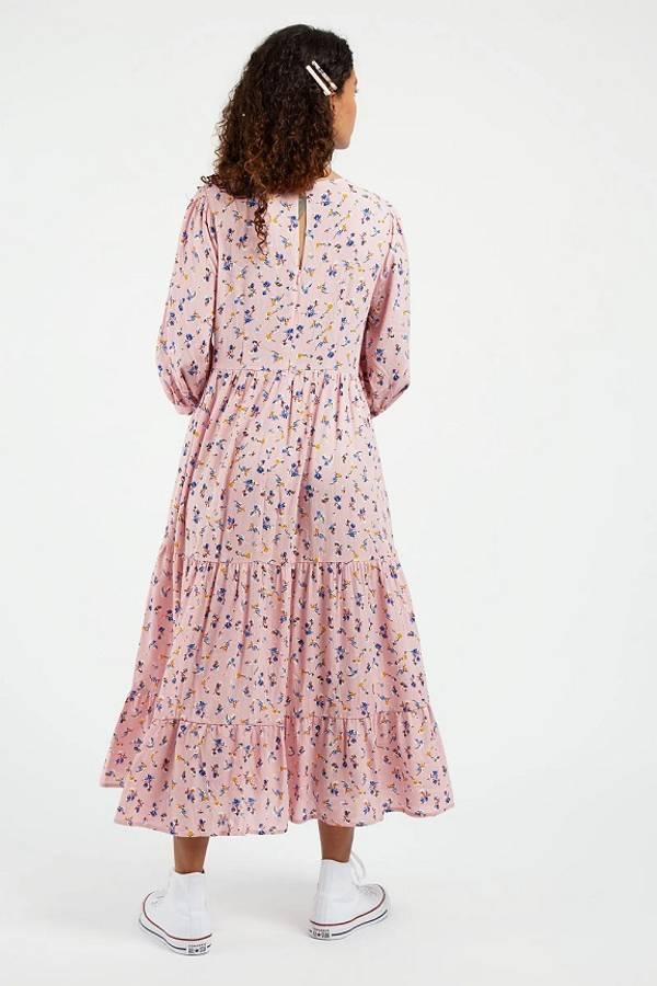 Louche kjole Romany, Rosa