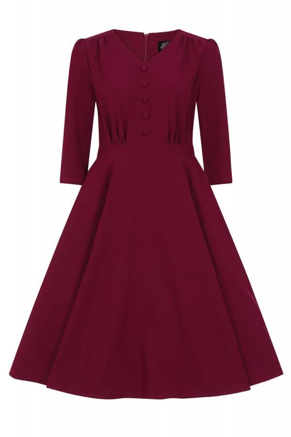H&R Utsvingt kjole Pretty Plum, Plommefarger