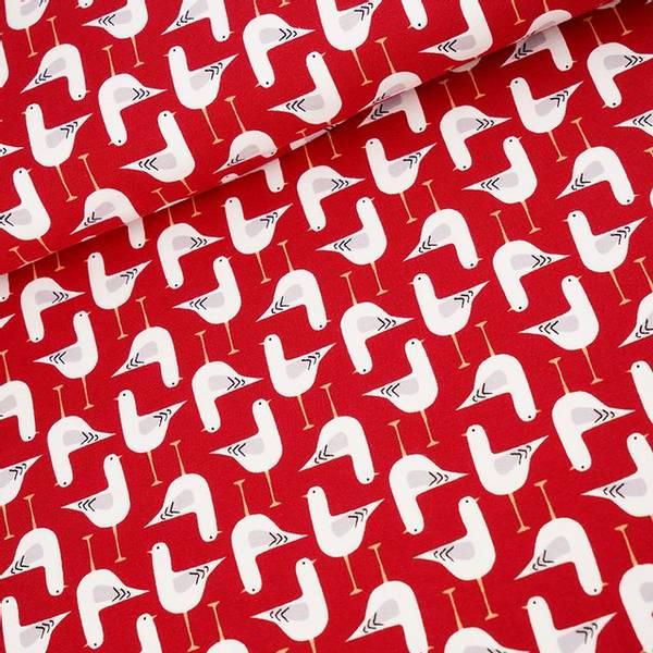 Bilde av Økologisk jersey, måker kirsebær